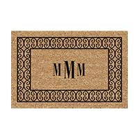 Charleston Hill Rectangular Monogram Welcome Mat