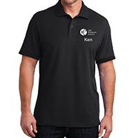 Unisex Black Polo