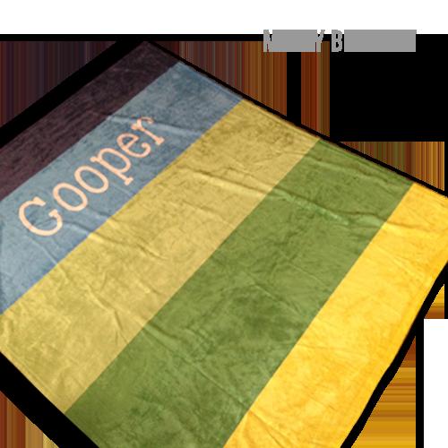 60x80 Personalized Minky Baby Blanket