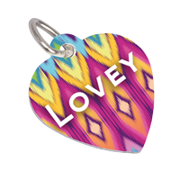 Pet Tag Heart Shaped 2 - Sided