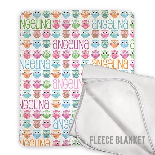 50 x 60 Personalized Fleece Baby Blanket